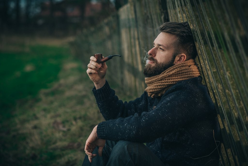 Piotr - bearded man with pipe